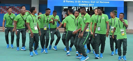 South African u20 Men's National Team Amajita singing before one of the matches at the recent CAF U20 African Cup of Nations. (Image: Namhla Mphelo)