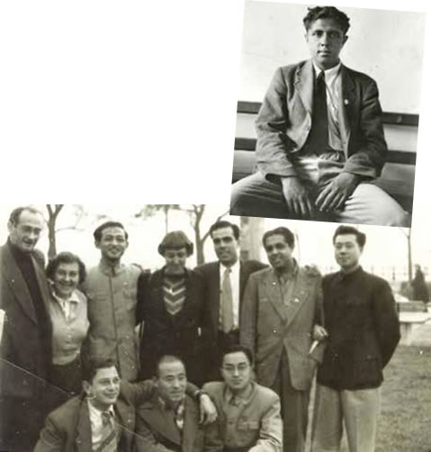 In Budapest, Hungary with various delegates, 1951