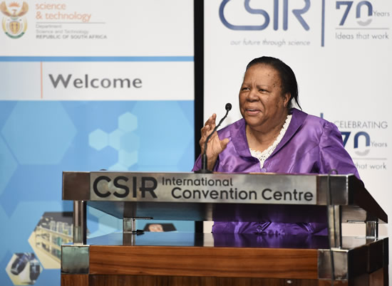 We must get more young people to study and pass maths and sciences, says Minister of Science and Technology Naledi Pandor.