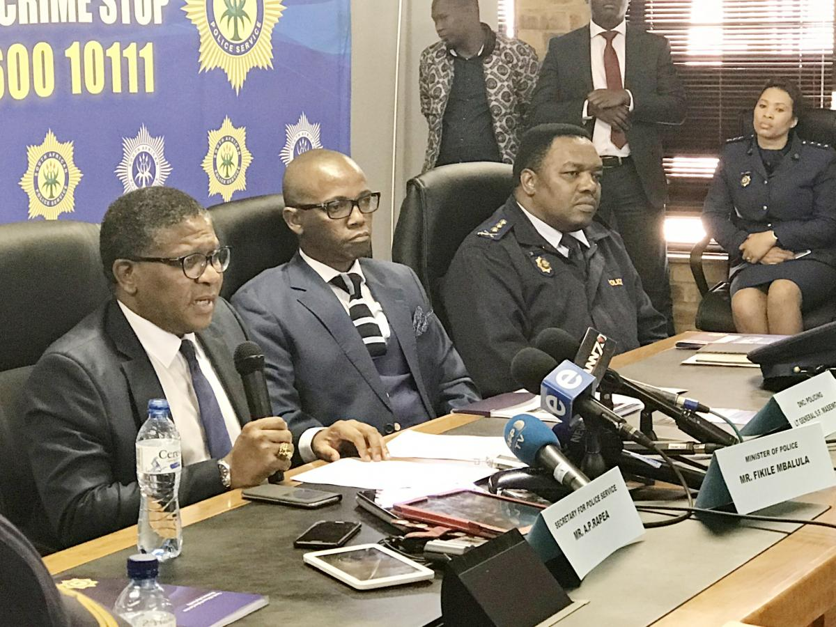 Minister of Police, Fikilie Mbalula, launches the 'Reducing Barriers to the Reporting of Sexual Offences and Domestic Violence' policy. (Photo: SAPS)