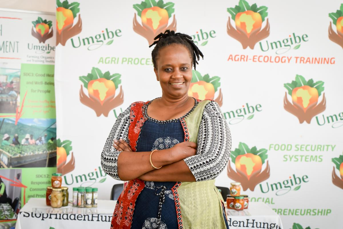 Nonhlanhla Joye fought illness, poverty and hunger to start Umgibe, a company which now has a positive impact on thousands of people.
