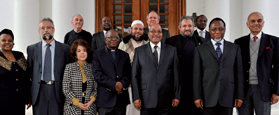 President Jacob Zuma with key religious and spiritual leaders.