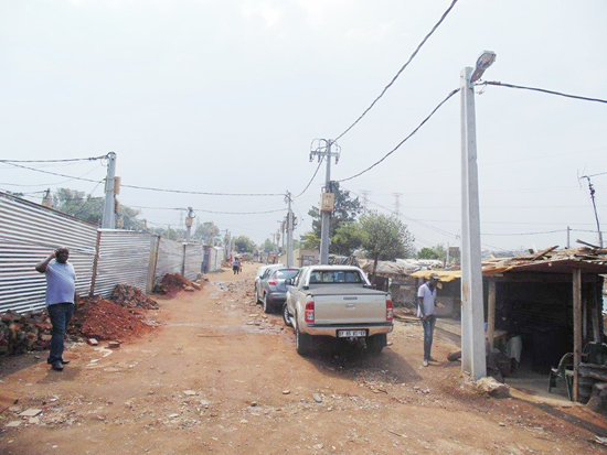 Residents living in informal settlements will have access to electricity.