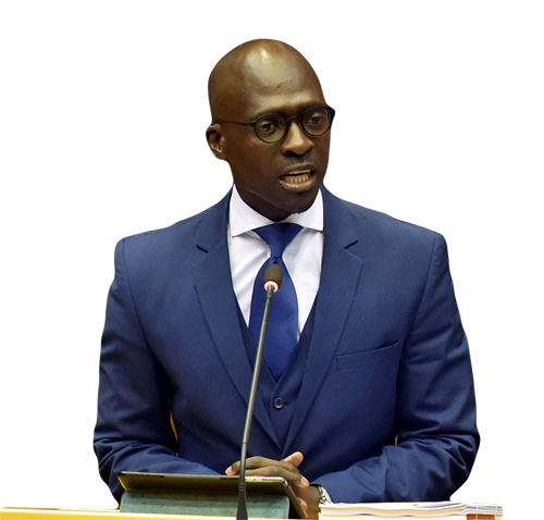 Finance Minister Malusi Gigaba delivers the Medium Term Budget Policy Statement.