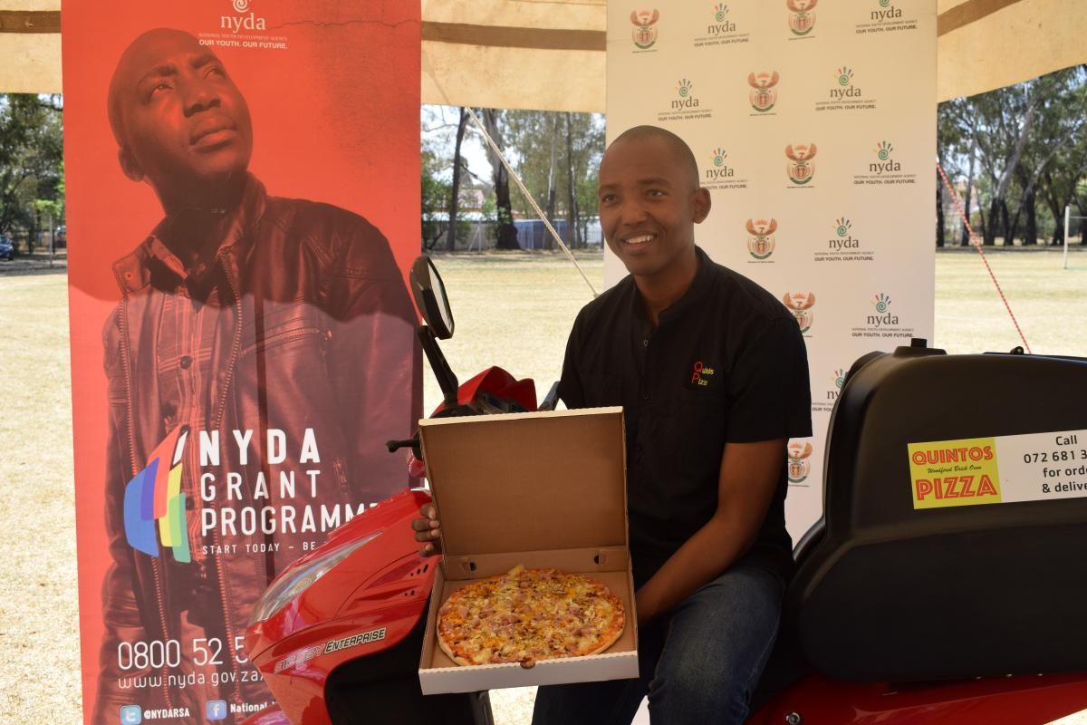 Quintos Pizza owner Keorapetse Sebusi is making waves in Thaba Nchu, Free State.