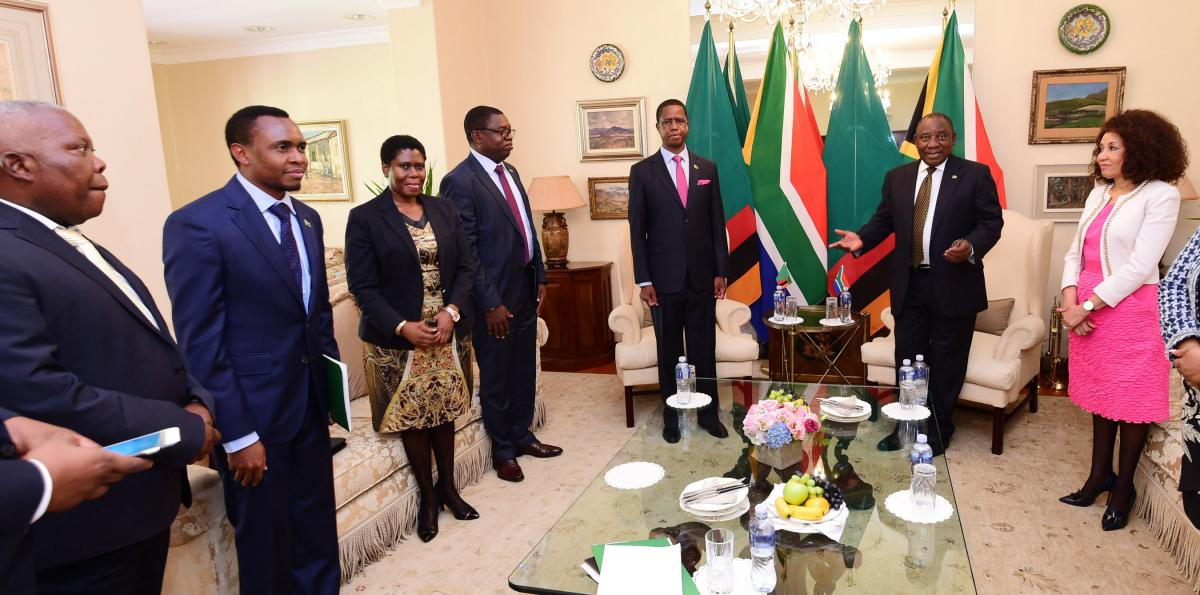President Cyril Ramaphosa recently hosted Zambian President Edgar Chagwa. International relations Minister Lindiwe Sisulu was part of the South African delegation.