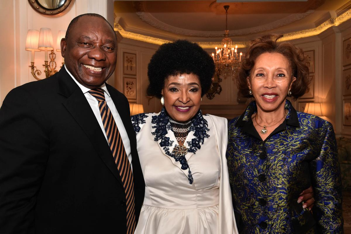 President Cyril Ramaphosa and his wife, Dr Tshepo Motsepe during Winnie Madikizela-Mandela's 80th birthday party.
