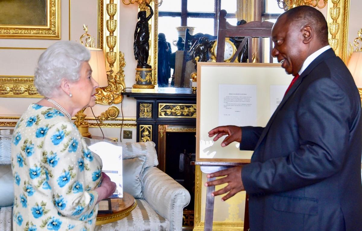 President Cyril Ramaphosa paying a courtesy call on Her Majesty Queen at Windsor Castle.