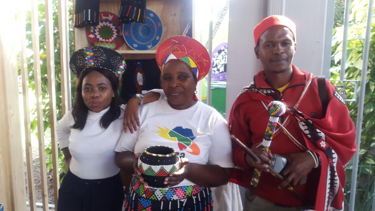 Vendor Solani Mtshali (right) says her business has gained global exposure at Africa's Travel Indaba.