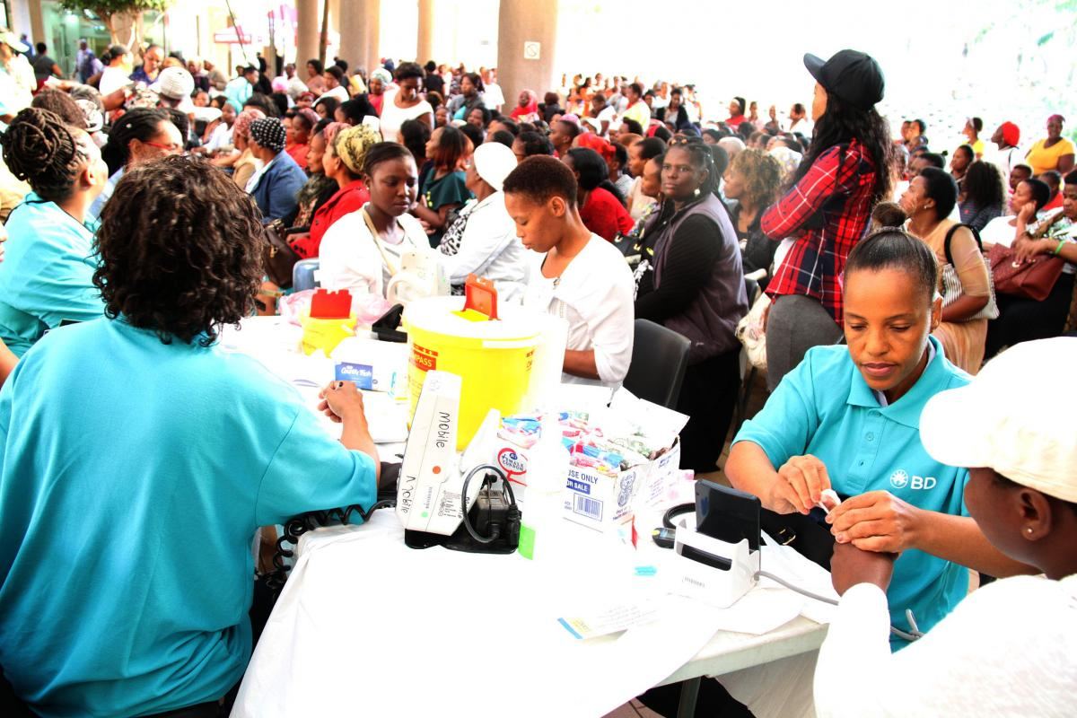 Scores of women were part of the cervical screening drive.