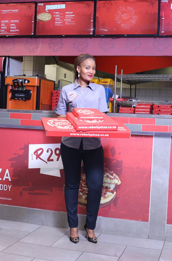 Florence Ndlovu living her life to the fullest as an entrepreneur in the pizza industry.