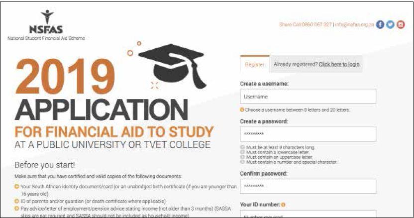 NSFAS 2019 applications open | Vuk'uzenzele