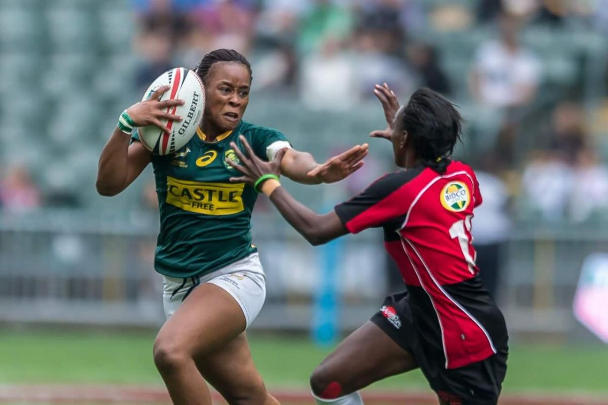 Zinhle Ndawonde plays for the Springbok National Women's team.
