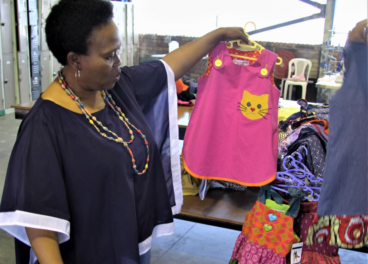 Sikhona Managing Director Khosi Jayiya saw a gap in the market and decided to manufacture ethnic clothes for children.