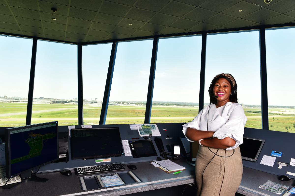 Mokgadi Mkhize works for Air Traffic and Navigation Services, based at the OR Tambo International Airport in Ekurhuleni.