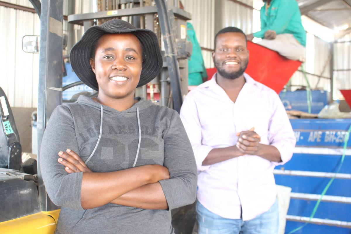 SiyaBuddy founders Nomuntu Ndhlovu and Siyabonga Tshabalala discovered a niche market in waste management.