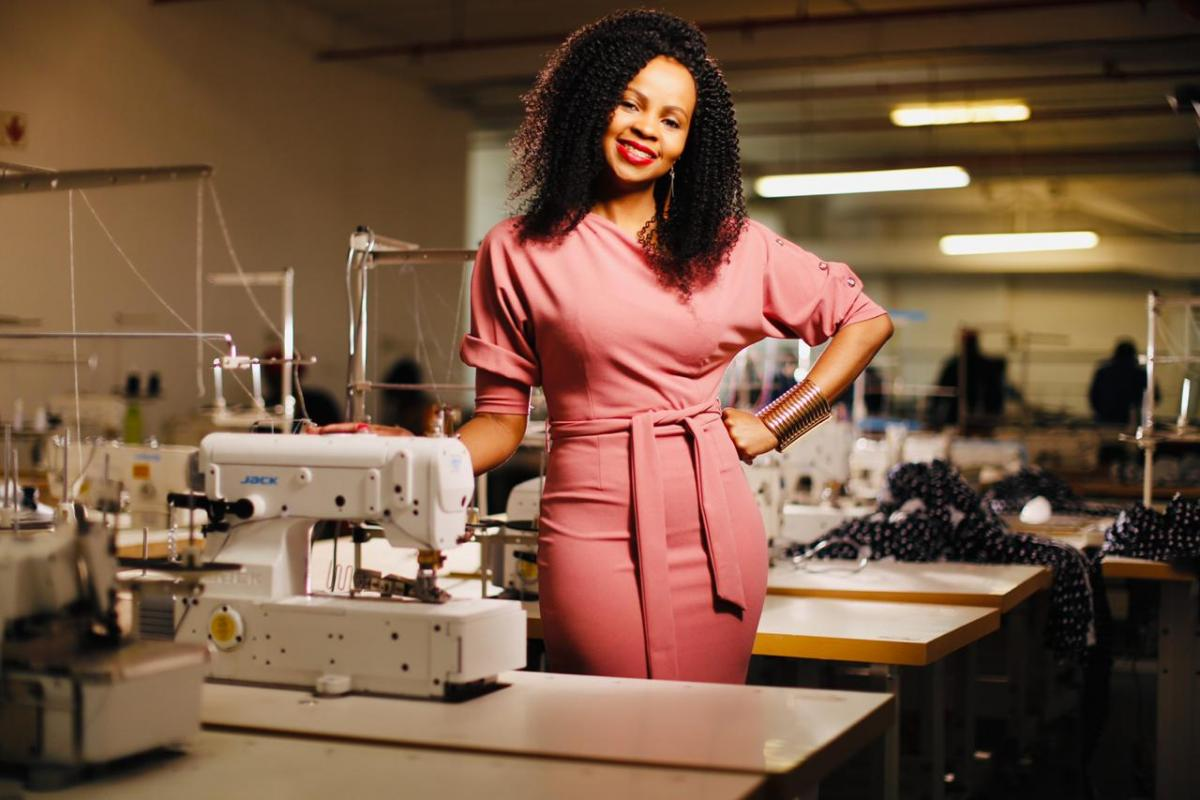 Chaz Ngaka has made her mark in the clothing manufacturing industry and also created about 120 jobs.