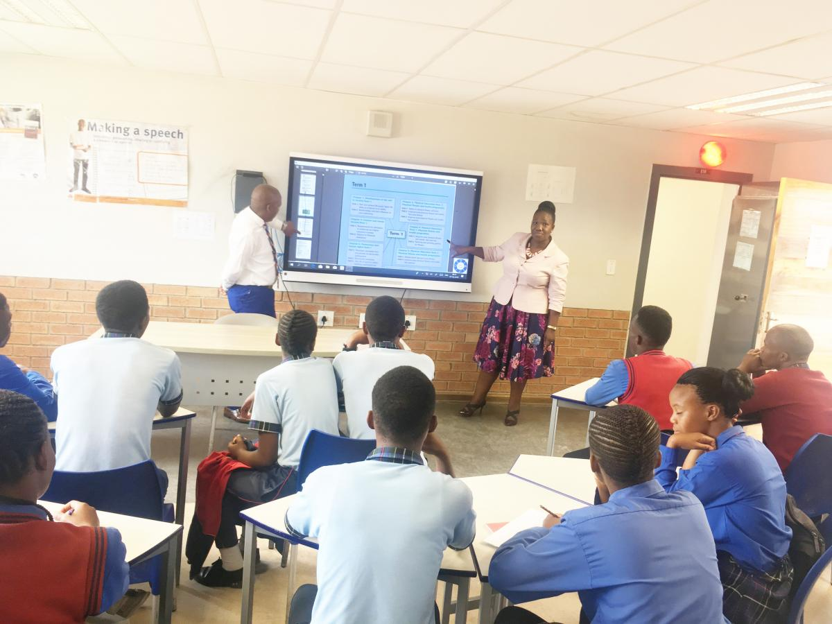 Learners at Seshegong Secondary School in Olievenhoutsbosch, Centurion, have access to state-ofthe- art equipment.