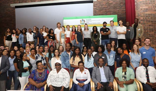 Over 200 young health workers ready to serve the community in different areas of KwaZulu-Natal as part of their in-service training.