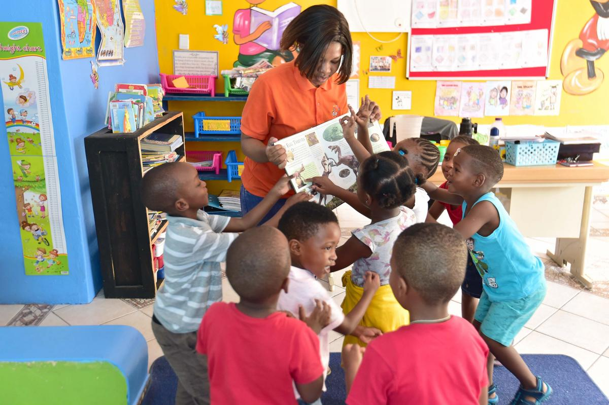 Grade R teacher Boniswa Khuse showcasing how the magic of reading can grow young minds.
