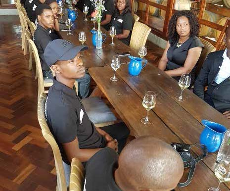 The Department of Tourism is giving young people the skill to become wine stewards.