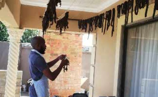 Serasengoe Moodie is running a successful biltong business.