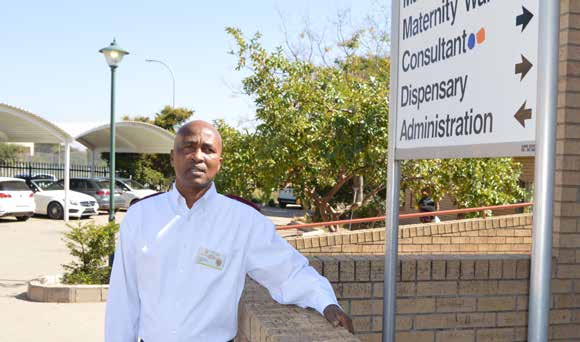 Joshua Mashiloane is a Midwife at the Rethabile Healthcare centre in Polokwane, Limpopo.
