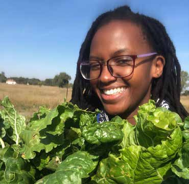 Young farmer Kanyi Gabiro is determined to make a success of her commercial farming business.