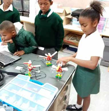Pupils of Simmondium Primary School, in Paarl, are learning robotics thanks to a new education department pilot project.