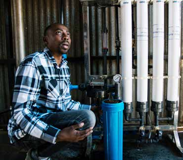 Scientist Murendeni Mafumo, the founder of Kusini Water, is passionate about providing clean water in rural areas.
