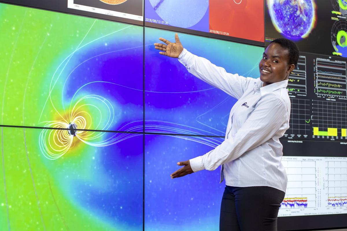 Dr Rendani Nndanganeni loves researching the impact of radiation on aviation.