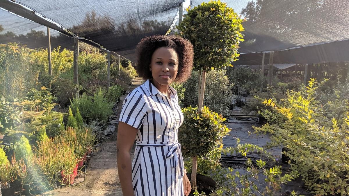 Siphamandla Manqele is passionate about organic food.