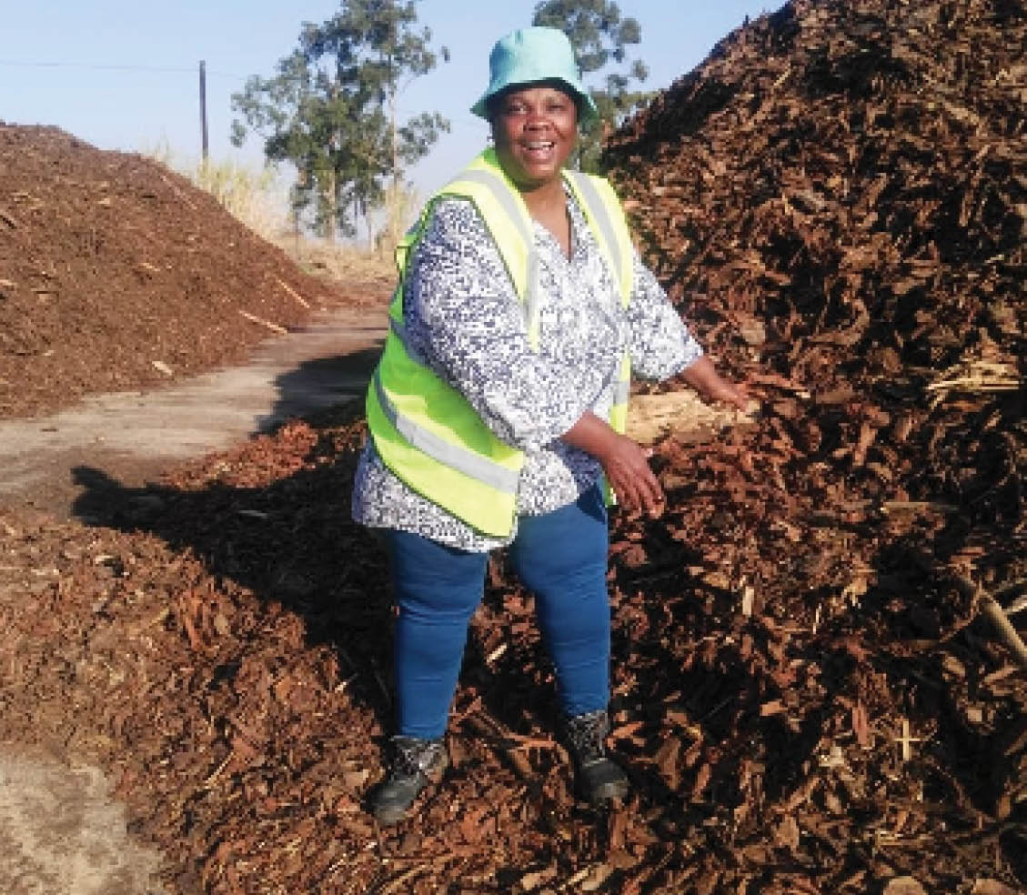 Farmer Thandi Mokoena is breaking new ground in agriculture, thanks to government assistance.