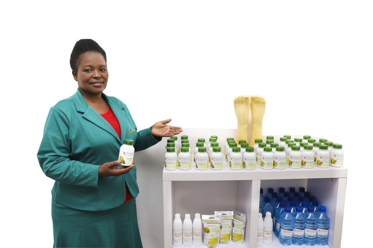 Nokuthula Mahaye runs a clinic that offers various forms of therapy and natural herbs to heal patients.