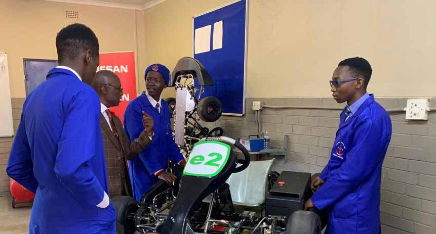 Learners from Katlehong Engineering School of Specialisation receive first hand experience in transport, manufacturing and logistics.