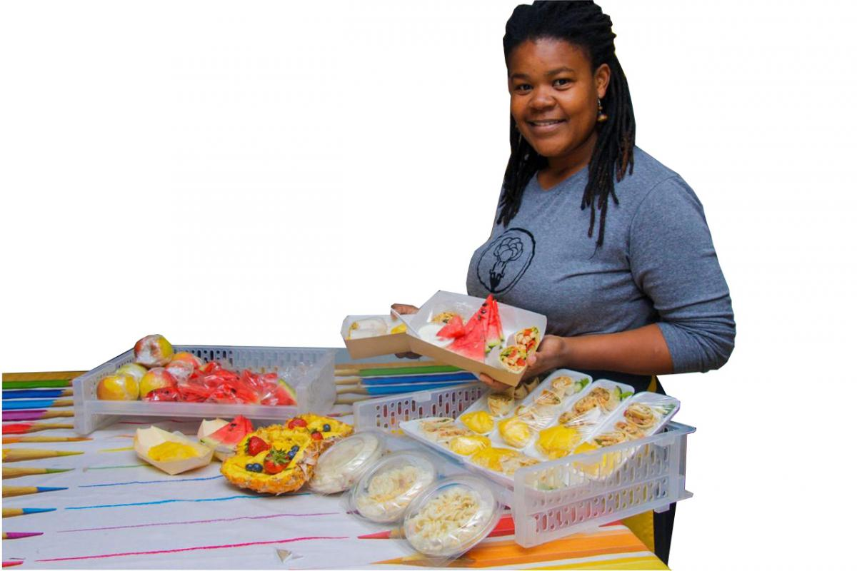 Labani Mgimeti turned her passion for creating healthy delicious meals into a business.