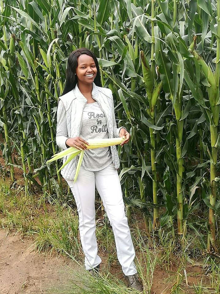 Njabulo Mbokane runs a 200-hectare farm. She is seeking funding to purchase a tractor which will allow her to expand her business.