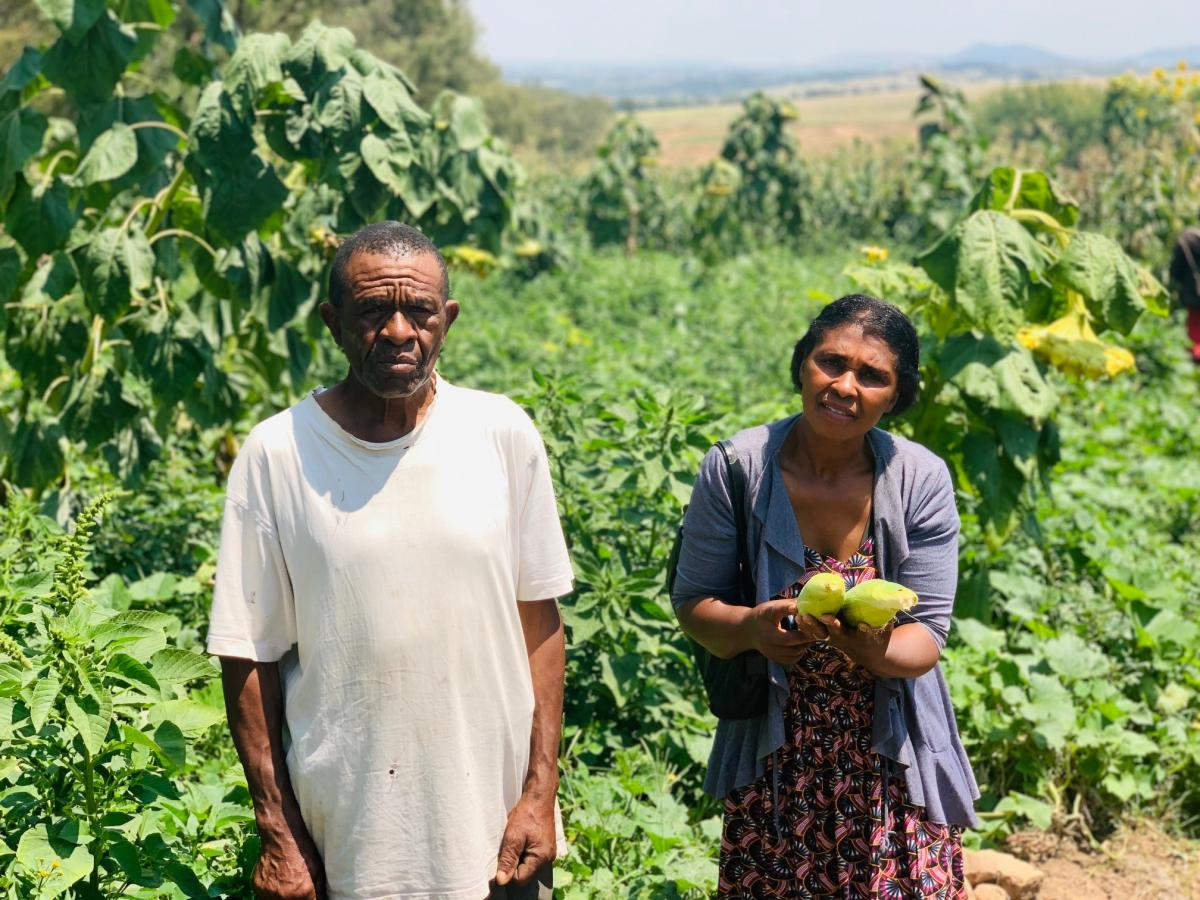 Emily Dikgale and Phillimon Machipa from Diepsloot are able to put food on the table, through the Food Resilience Programme.