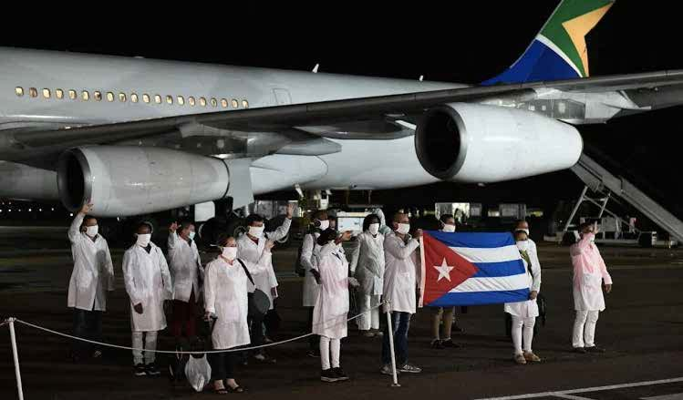 A total of 217 Cuban doctors are in South Africa to help curb the COVID-19 pandemic.