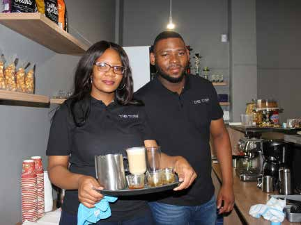 Owners of The Tosh coffee shop in Klerksdorp Katlego Matlala and Jason Mfusi had their business funded by the NDYA's Youth Micro Enterprise Fund