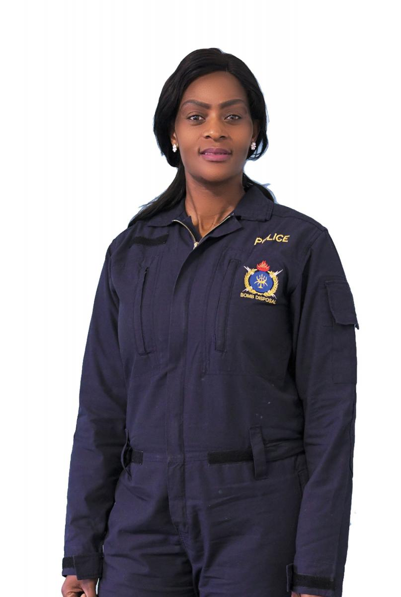 Lieutenant-Colonel Daphney Gada fighting crime in the SAPS's Explosives Division.