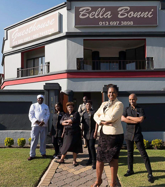 Meisie Nkosi started her successful guesthouse from scratch. Photo: Meisie Nkosi.
