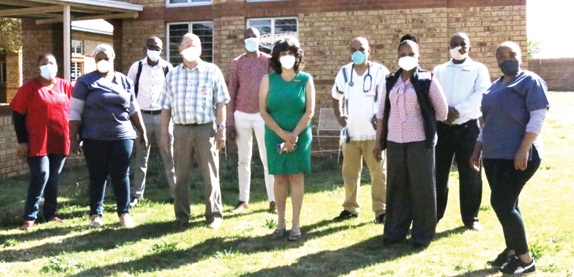 Health workers from the Tshepong Hospital in Klerksdorp in the North West who played a vital role in ensuring that there are no new cases of Extreme Drug Resistant Tuberculosis (XDR TB).