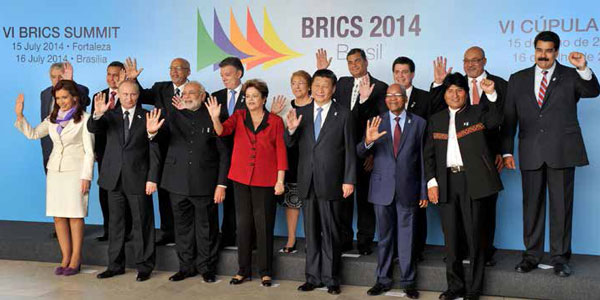 Brics (Brazil, Russia, India, China and South Africa) leaders held a successful Brics Summit in Brazil in July.