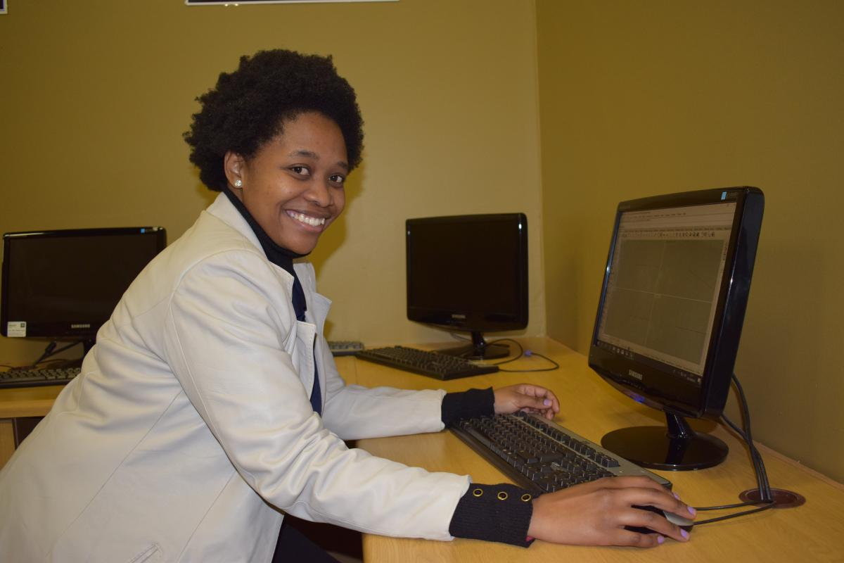 Tshepang Mawatsa from Virginia Jewellery School is excited to have her own computer to work on