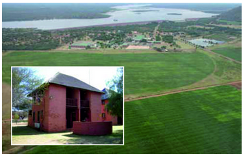 North West communities, who have benefitted from the land restitution process, are making the most of the land handed back to them through farming projects and a game lodge (inset).