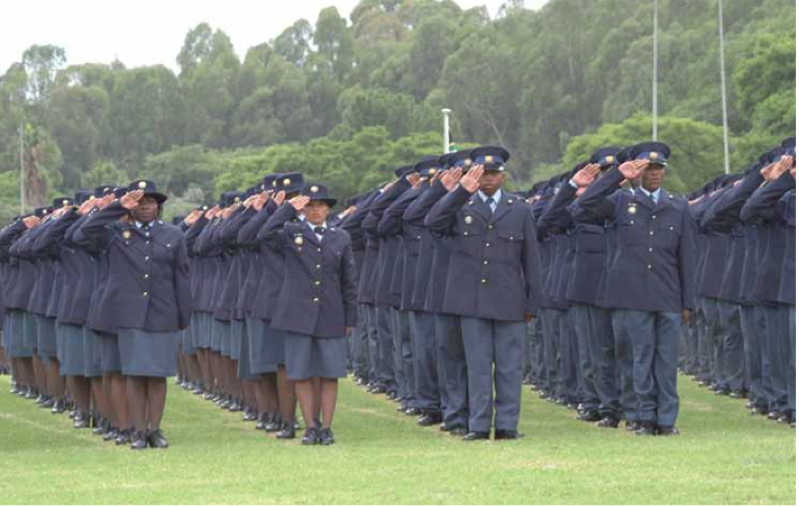 Photo caption: The South African Police Service has recruited thousands of additional police officers over the years to ensure the safety of South Africa's citizens.