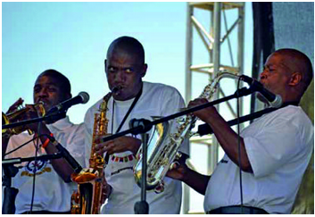Offenders put their music skills on display as they perform during the Department of Correctional Services' National Offender Jazz Festival in Bloemfontein.