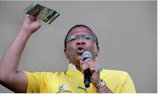 Minister of Sports and Recreation, Fikile Mbalula.