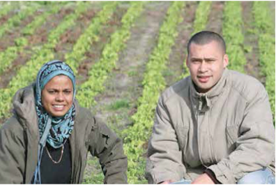 Wadea Jappie and her son and farm foreman Nabeel Brinkhuys supply various restaurants and eateries throughout Cape Town with their scrumptious salad crops.